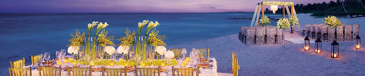 Have your Wedding and reception on an idyllic sandy beach