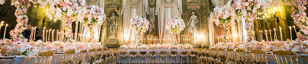 A host of grand wedding venues are available to book, plan your wedding with Luxury Travel Gurus